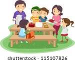 illustration of a family having ... | Shutterstock .eps vector #115107826