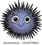 sea urchin with cute look | Shutterstock .eps vector #1151079062