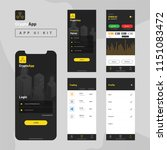 crypto app ui kit for... | Shutterstock .eps vector #1151083472