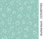 baby. newborn. cute seamless... | Shutterstock .eps vector #1151087432