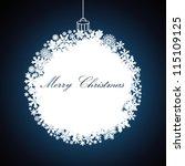 christmas gift ball  snowflake...   Shutterstock .eps vector #115109125