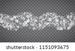 isolated snowflakes on... | Shutterstock .eps vector #1151093675