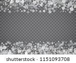 snowflake border for christmas... | Shutterstock .eps vector #1151093708
