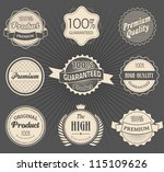 set of retro vintage styled... | Shutterstock .eps vector #115109626