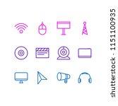 vector illustration of 12 music ... | Shutterstock .eps vector #1151100935