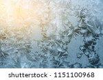 ice pattern on the window in... | Shutterstock . vector #1151100968