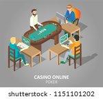 casino online poker game... | Shutterstock . vector #1151101202