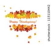 banner for the thanksgiving... | Shutterstock .eps vector #115110442