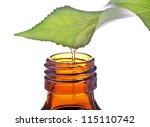 bottle with homeopathy balm and ... | Shutterstock . vector #115110742