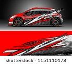 rally car wrap design vector ... | Shutterstock .eps vector #1151110178