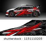 rally car wrap design vector ... | Shutterstock .eps vector #1151110205