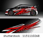 rally car wrap design vector ... | Shutterstock .eps vector #1151110268