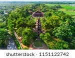 the thien mu pagoda is one of... | Shutterstock . vector #1151122742