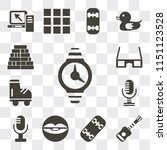 set of 13 simple editable icons ...   Shutterstock .eps vector #1151123528
