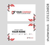 business card template in black ... | Shutterstock .eps vector #1151126828