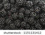 blackberry background closeup | Shutterstock . vector #1151131412