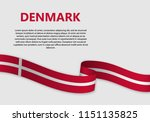 waving flag of denmark  vector... | Shutterstock .eps vector #1151135825
