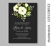 wedding invitation floral...   Shutterstock .eps vector #1151138312
