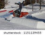 skier in action  ski jumping in ... | Shutterstock . vector #1151139455