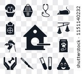set of 13 simple editable icons ... | Shutterstock .eps vector #1151140232
