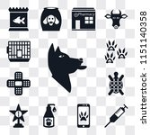 set of 13 simple editable icons ... | Shutterstock .eps vector #1151140358