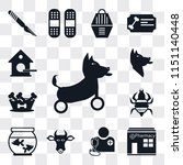 set of 13 simple editable icons ... | Shutterstock .eps vector #1151140448