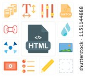 set of 13 simple editable icons ... | Shutterstock .eps vector #1151144888