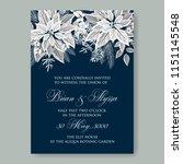 poinsettia wedding invitation... | Shutterstock .eps vector #1151145548