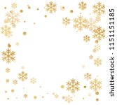 winter snowflakes and circles... | Shutterstock .eps vector #1151151185