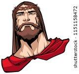 portrait of jesus christ...   Shutterstock .eps vector #1151158472
