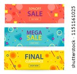 mega sale and final clearance... | Shutterstock .eps vector #1151161025