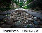 rainbow row street in... | Shutterstock . vector #1151161955