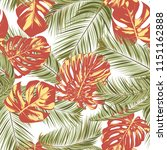 summer exotic floral tropical... | Shutterstock .eps vector #1151162888