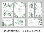 eucalyptus design. wedding... | Shutterstock .eps vector #1151162915