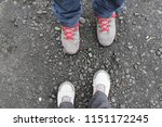 two pair of legs   male and... | Shutterstock . vector #1151172245