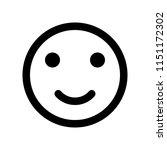 happy expression emoticon | Shutterstock .eps vector #1151172302