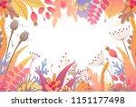 rectangle horizontal frame made ... | Shutterstock .eps vector #1151177498