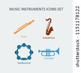colored music instruments... | Shutterstock . vector #1151178122
