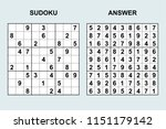 vector sudoku with answer 159.... | Shutterstock .eps vector #1151179142