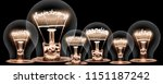 photo of light bulbs with... | Shutterstock . vector #1151187242