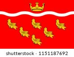 flag of east sussex is a county ... | Shutterstock .eps vector #1151187692