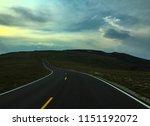 trail ridge road at dusk in... | Shutterstock . vector #1151192072
