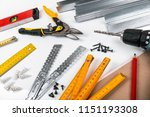 tools and equipment for... | Shutterstock . vector #1151193308