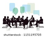 meeting and communicating from... | Shutterstock . vector #1151195705