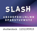 sale  slashed broken typography ... | Shutterstock .eps vector #1151195915