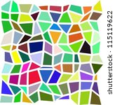 colorful irregular mosaic... | Shutterstock .eps vector #115119622