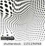 vector halftone texture... | Shutterstock .eps vector #1151196968