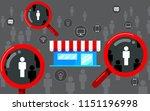 target audience  focus customer.... | Shutterstock .eps vector #1151196998