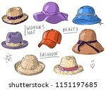 set illustration with woman's... | Shutterstock .eps vector #1151197685