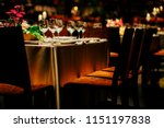 luxury table settings for fine... | Shutterstock . vector #1151197838
